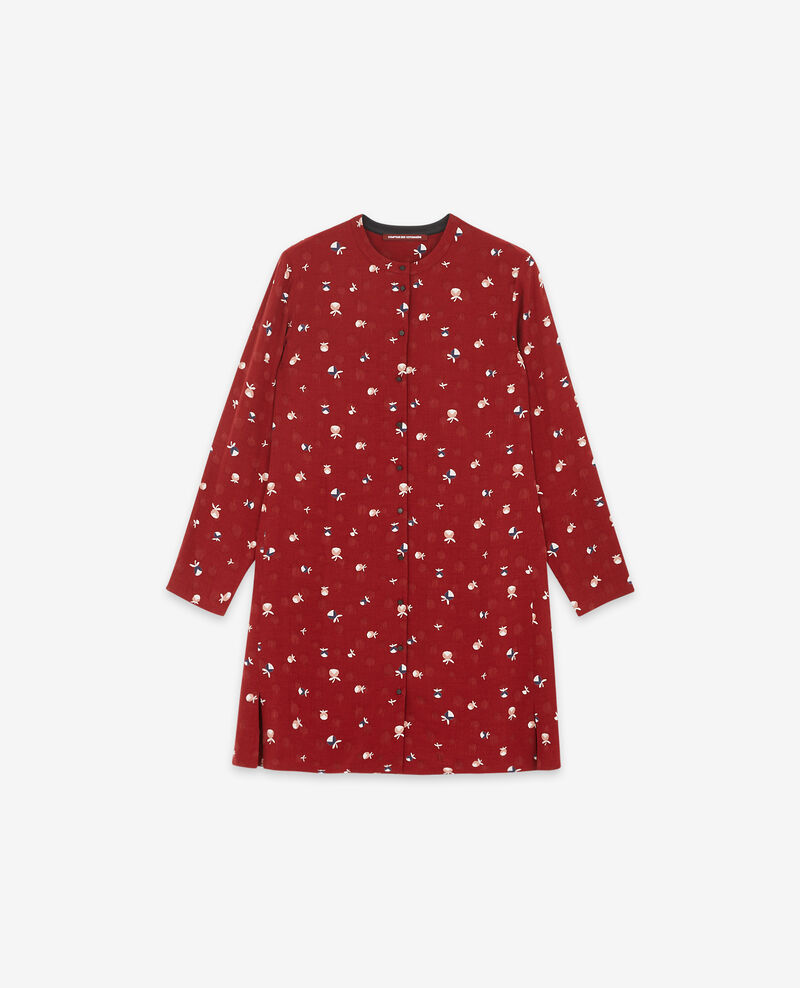 Printed shirt dress Pinecones devil Delgaudio