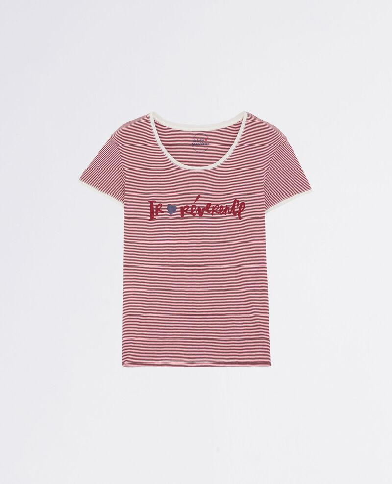 """Ir♥révérence"" Breton t-shirt Raspberry Carpe"