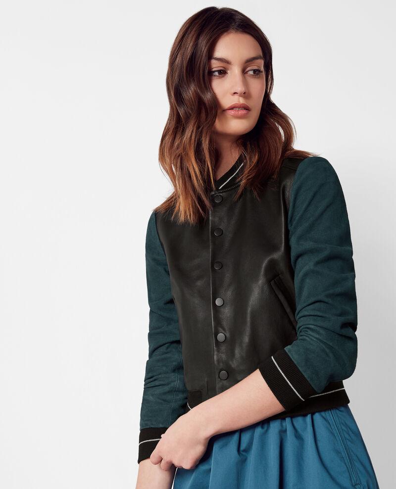 Leather teddy jacket Midnight Caddy