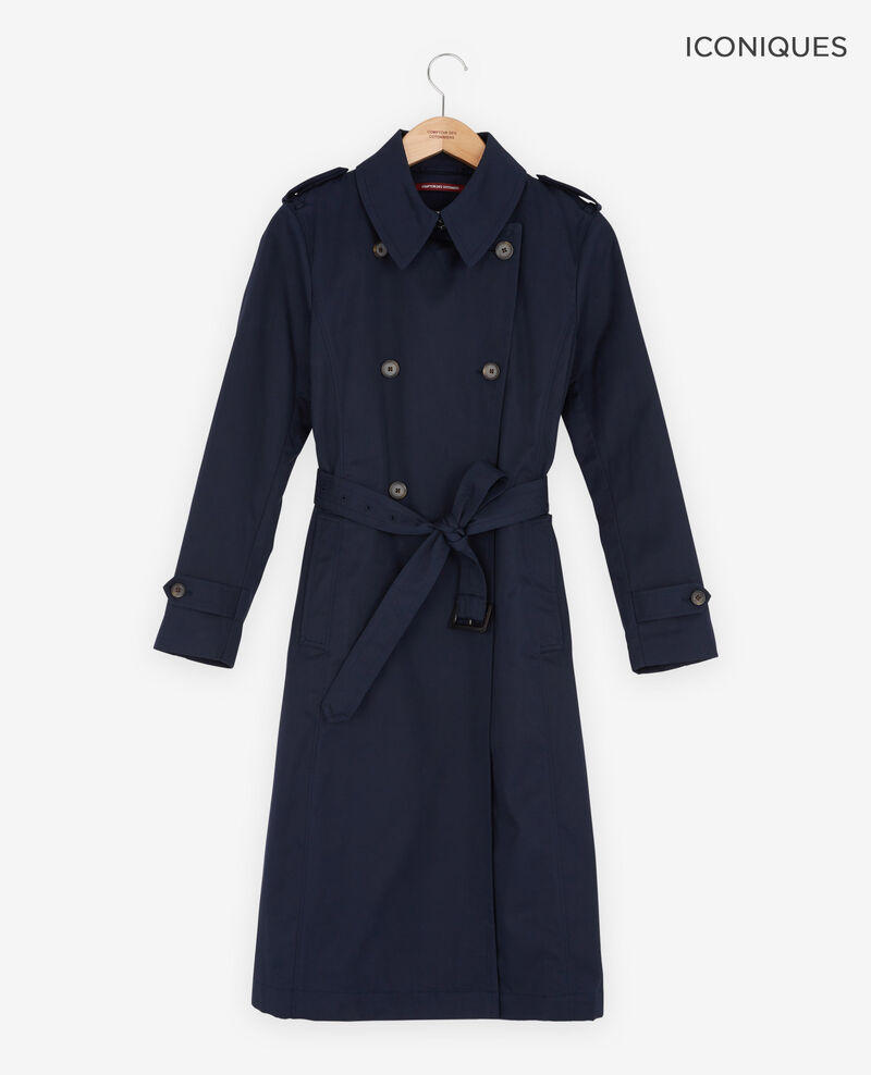 Iconic fit Trench coat Navy Fadja