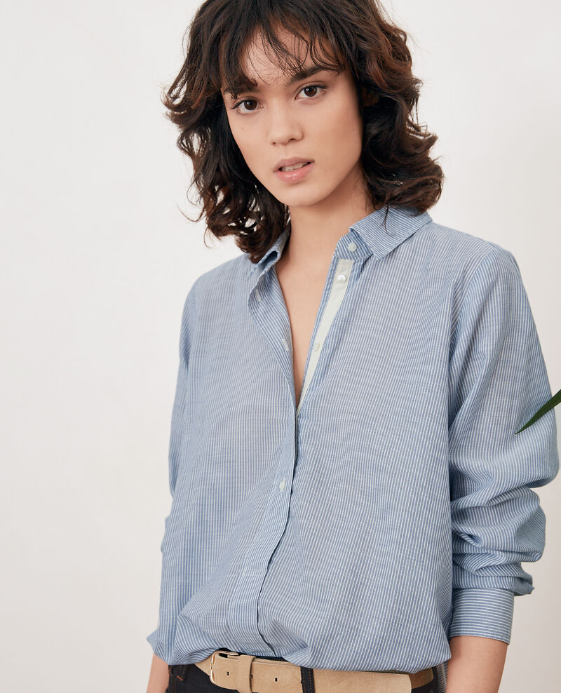 Striped oversize shirt STONE BLUE STRIPES