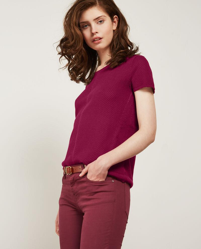 Knit T-Shirt Peony Deluz