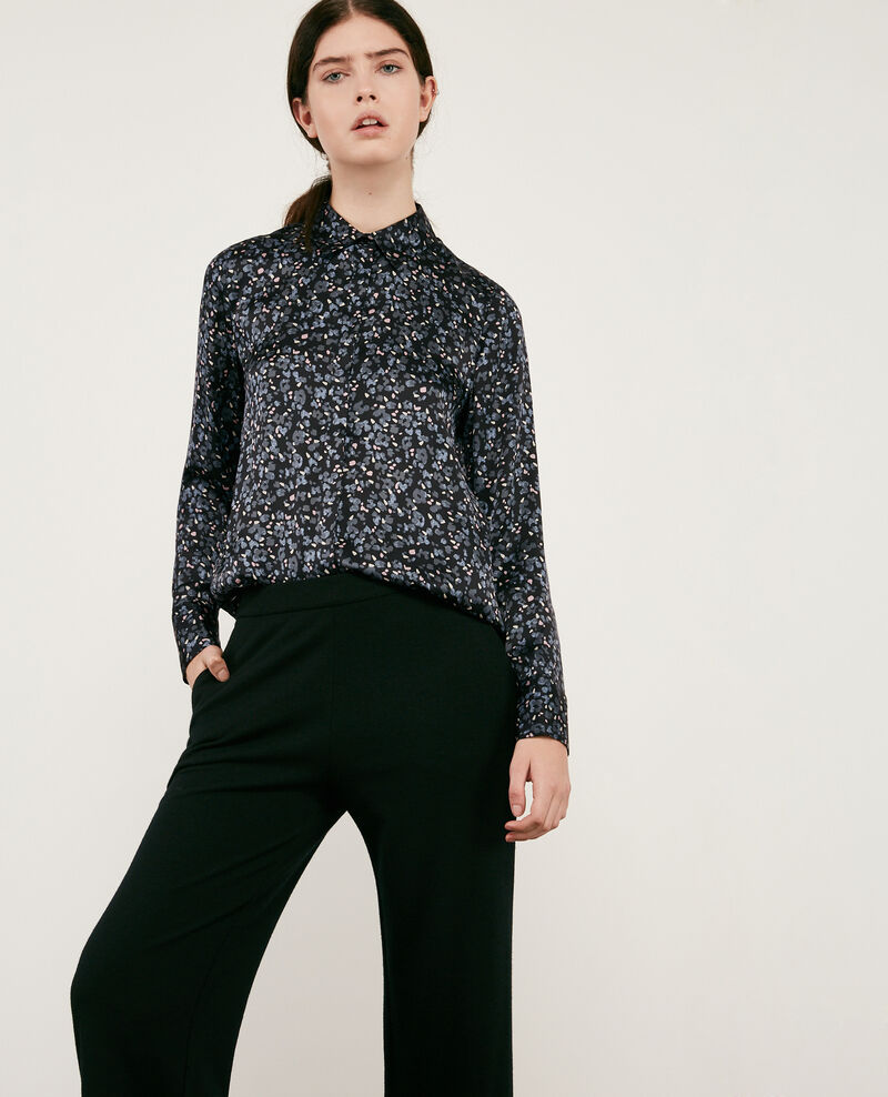 Printed silk shirt Wildcat black Danimal