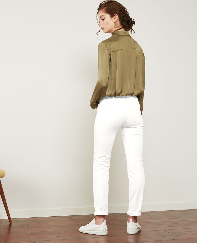 Soft touch cigarette fit jeans Off white Dhanna