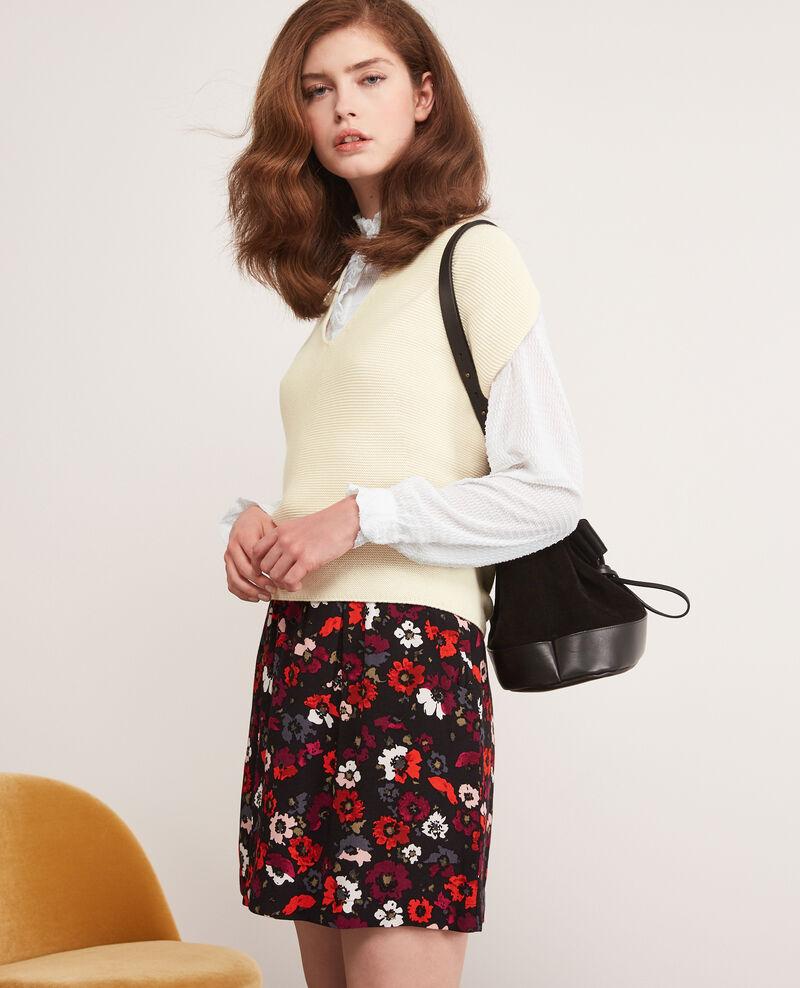 Seamless knitted short sleeve jumper Off white Dexterieur