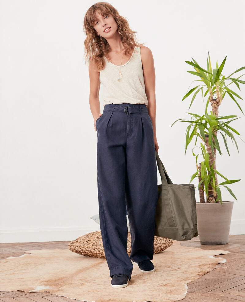 Wide trousers NAVY