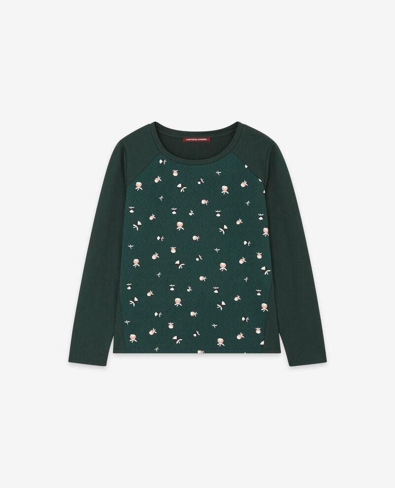 Print sweater Pinecones deep green 9daventure