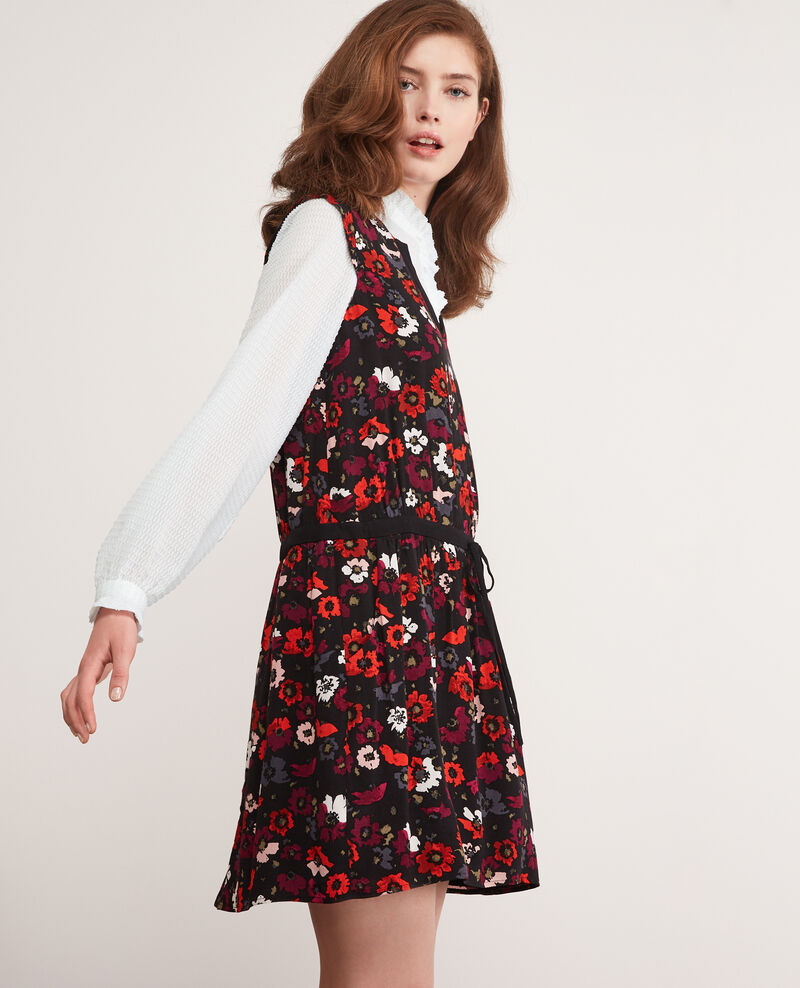 Printed dress Poppies black Deso