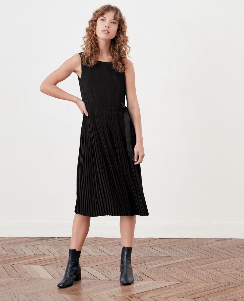 Dress with pleated skirt NOIR