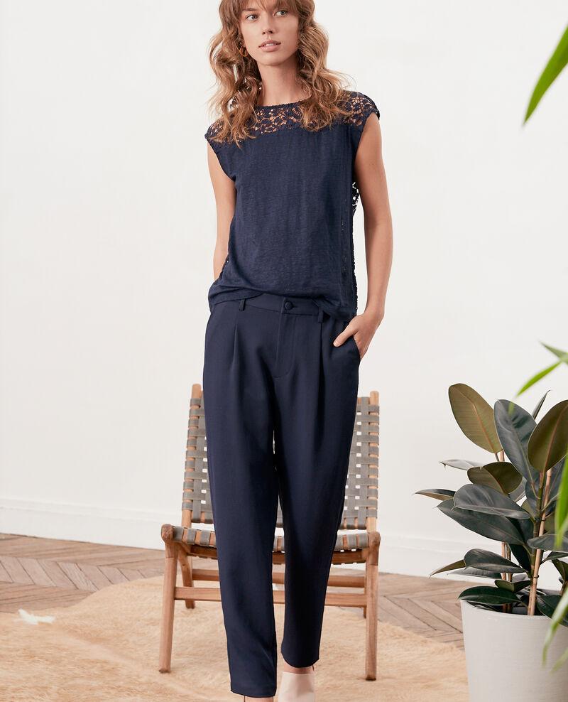 Crepe trousers MARINE