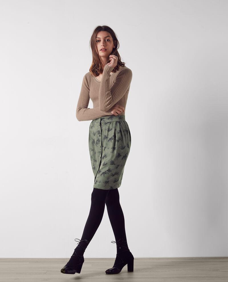 Short print skirt Anemone kaki Capri