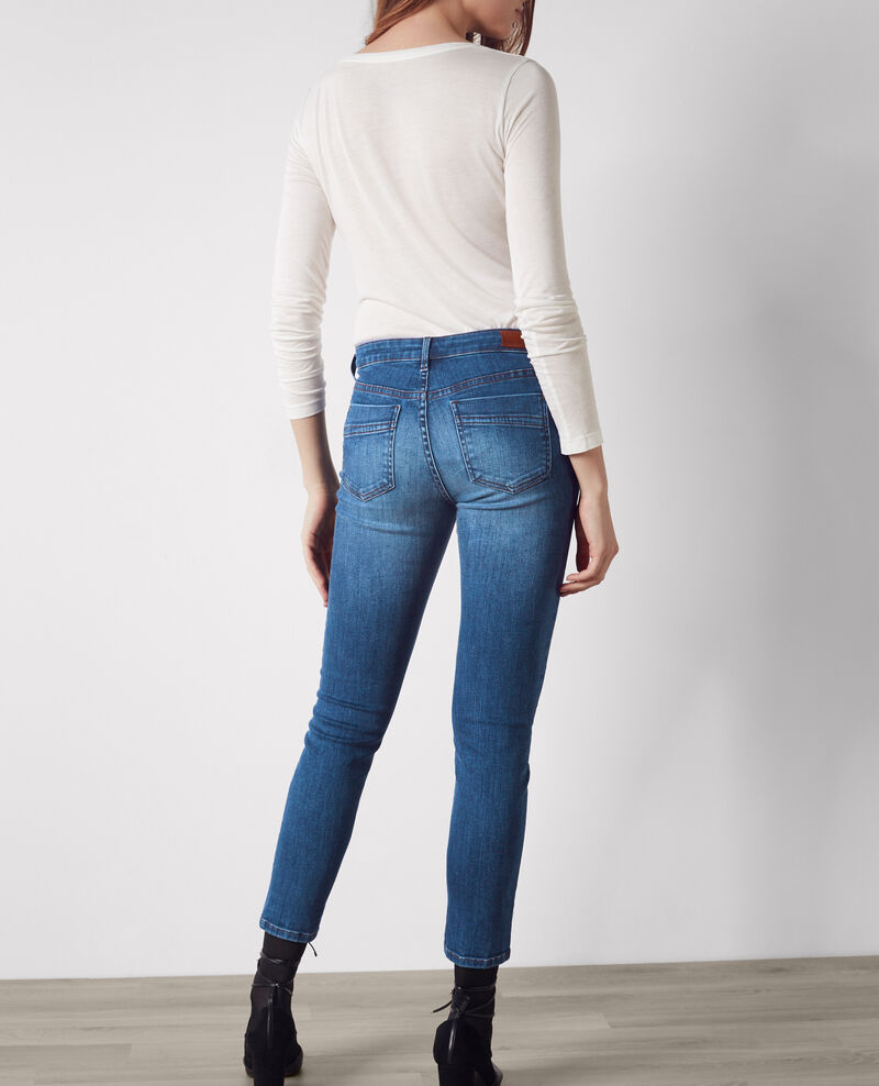 Ma demoiselle cropped slim-fit jeans Double stone blue Caradec