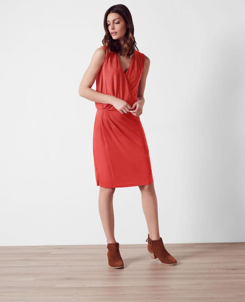 Wraparound dress Candy apple Calimba