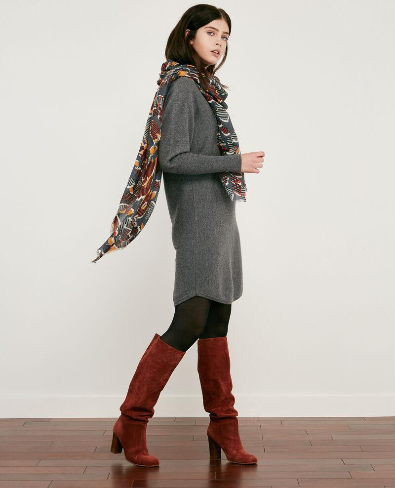 100% cashmere dress Dark heather grey Duglamour