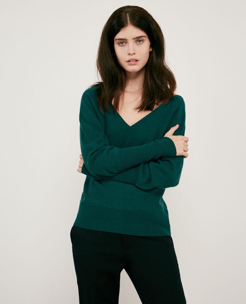 100% cashmere cardigan Deep green Dusexy