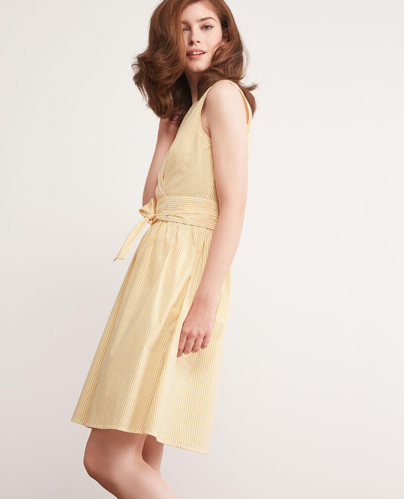 Striped dress Crayola/white Cassiopee