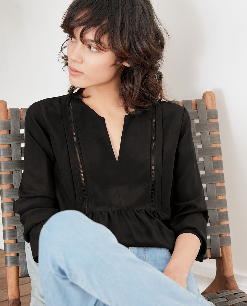 Silk blouse Noir Fippex