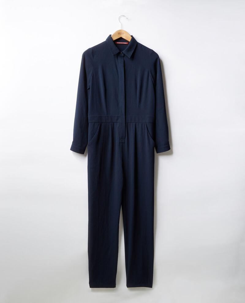 Loose shirt jumpsuit Navy Divine