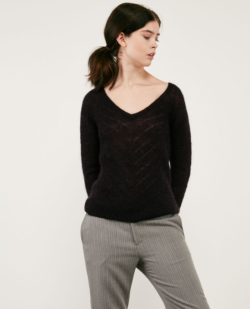 Mohair and wool jumper Noir 9cookie