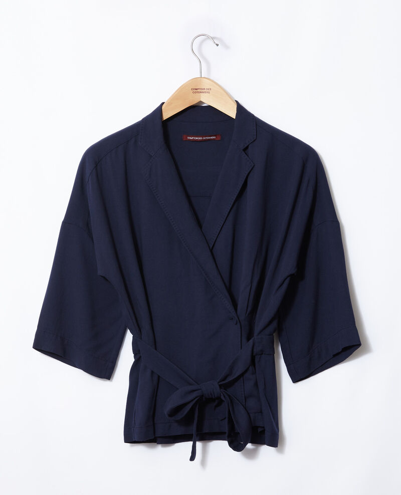 Wrap blouse Peacoat Guidell