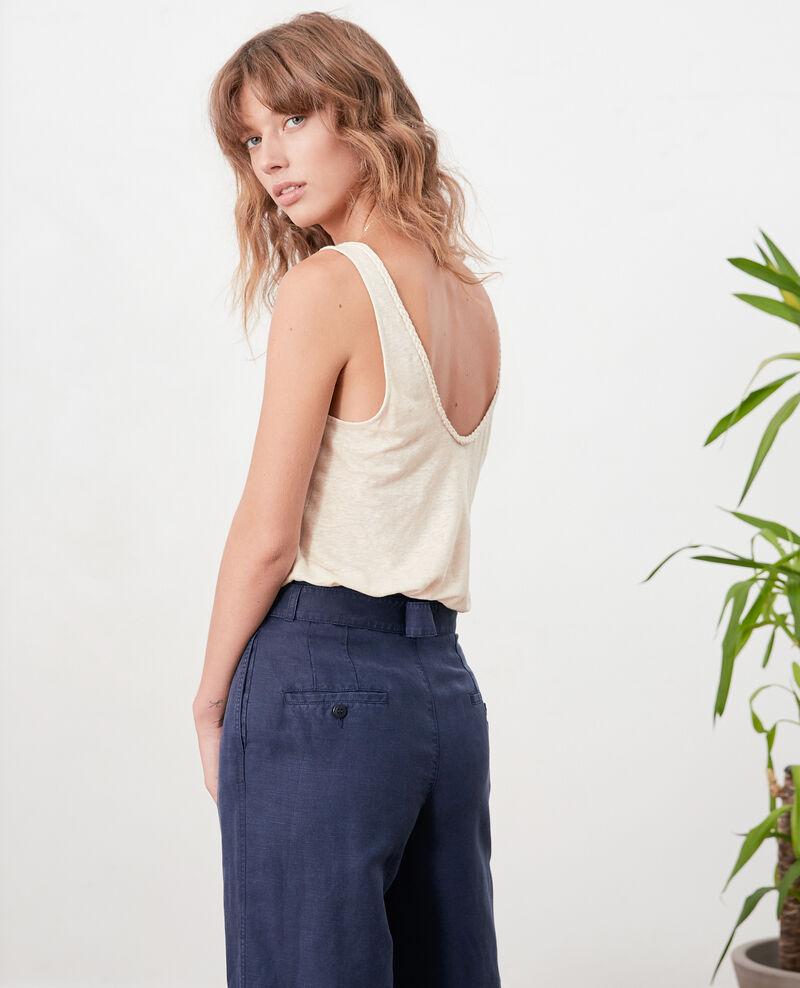 Linen vest top Natural Fagou