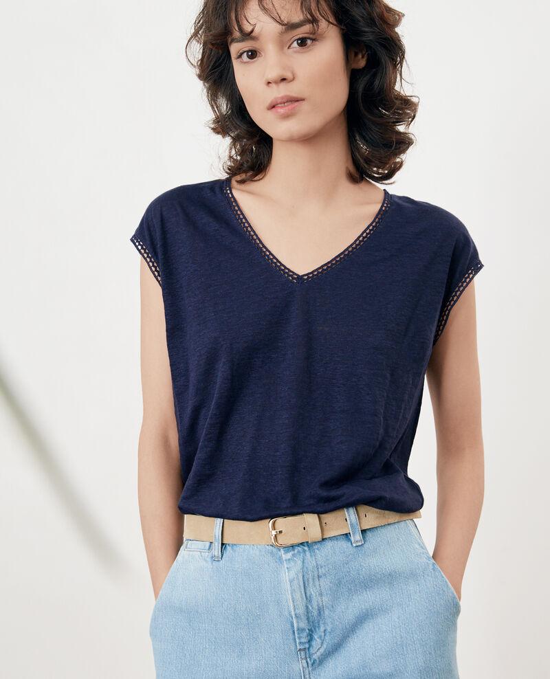 Linen T-shirt MARINE