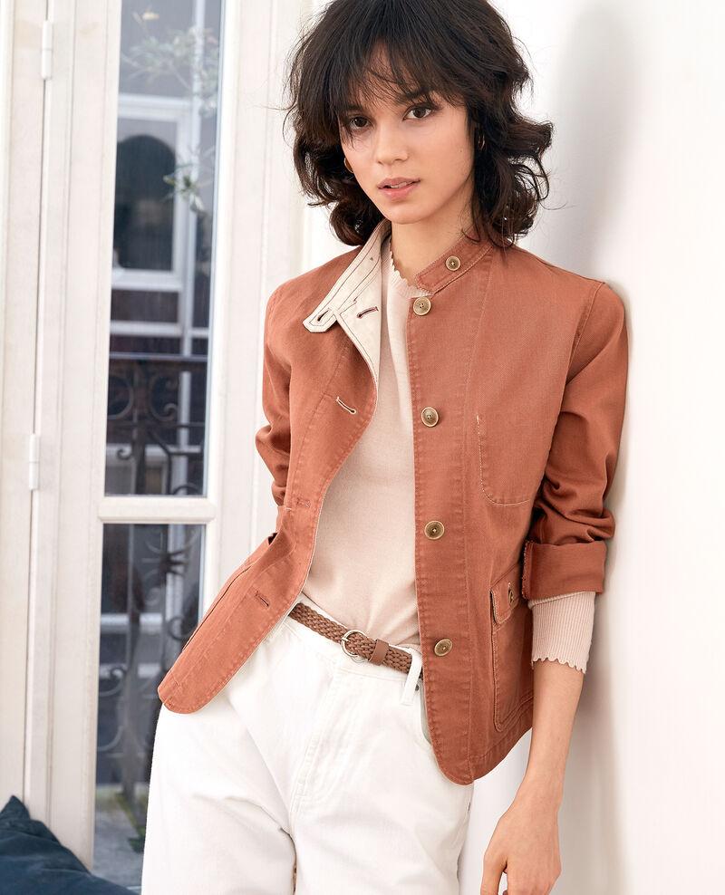 Mandarin collar jacket Auburn Felotte