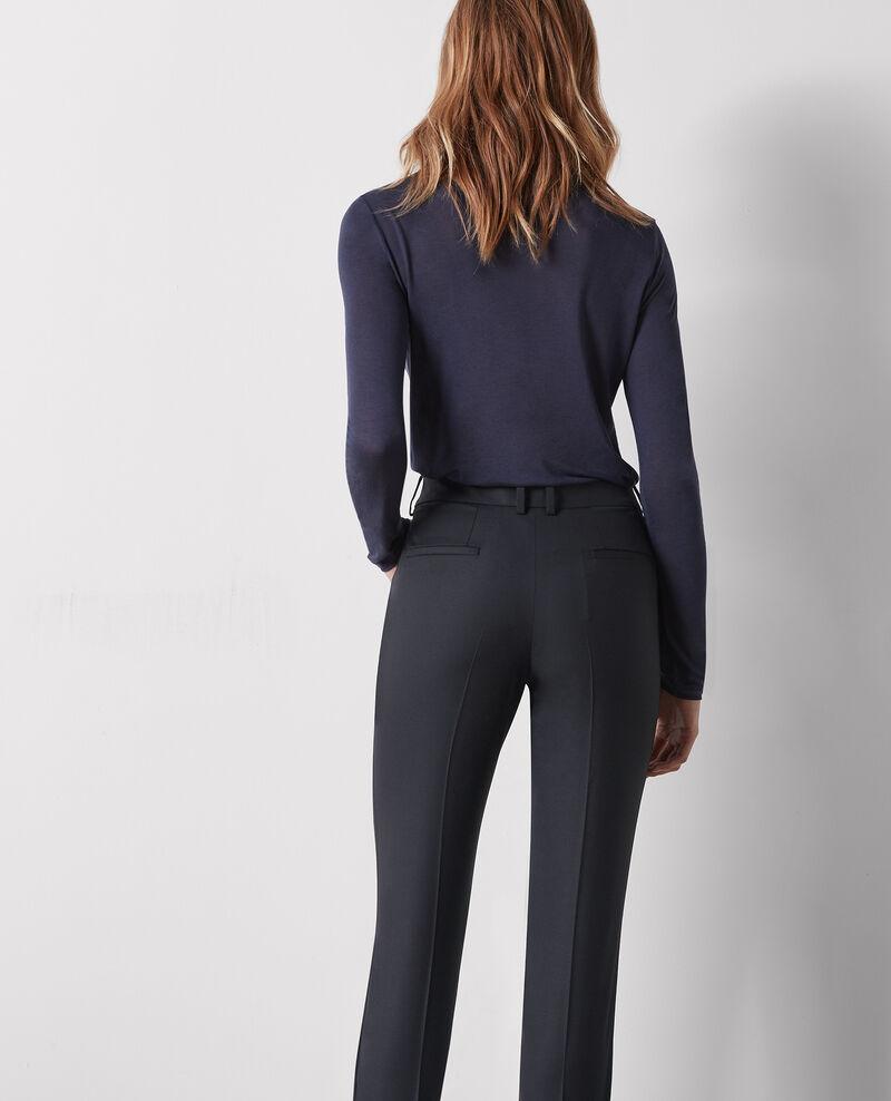 Wool office trousers Noir Cotiya