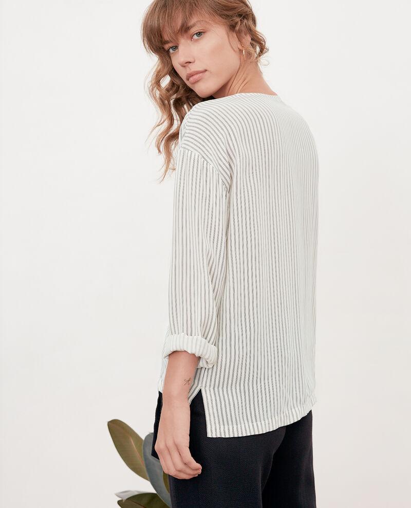 Striped blouse Off white/black stripes Fraise