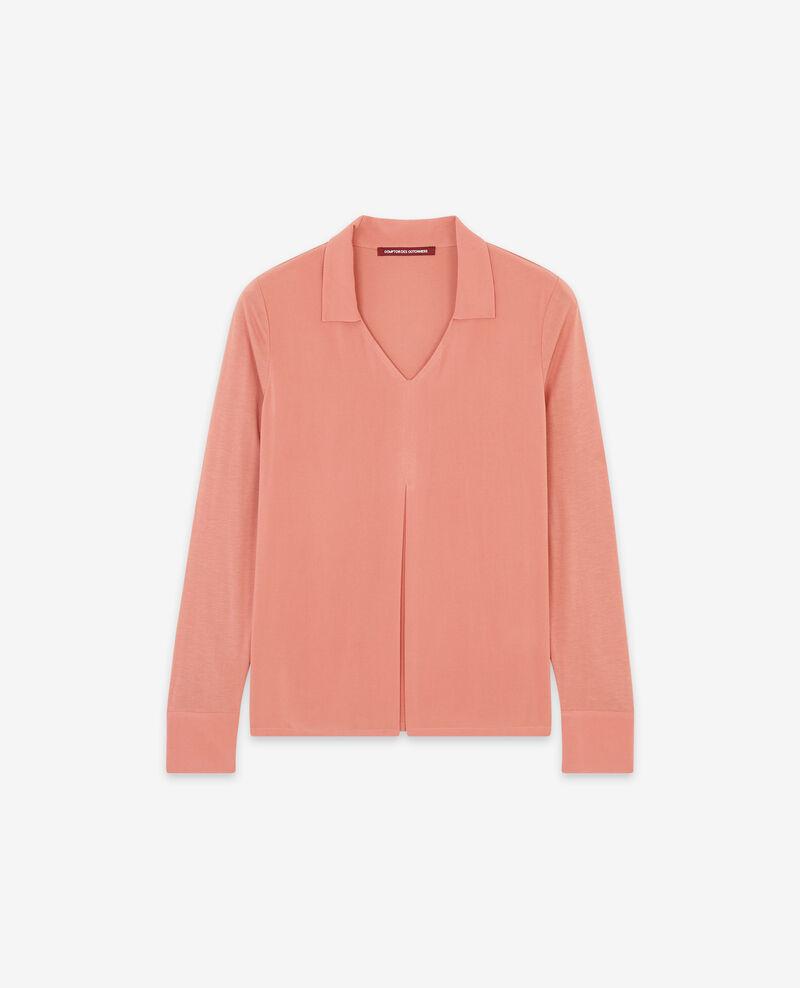 Jersey and crêpe shirt Rose clay 9capados
