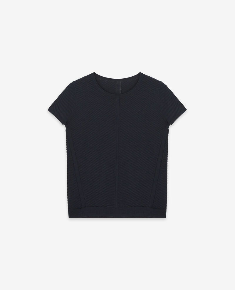 Knit T-Shirt Dark navy Deluz