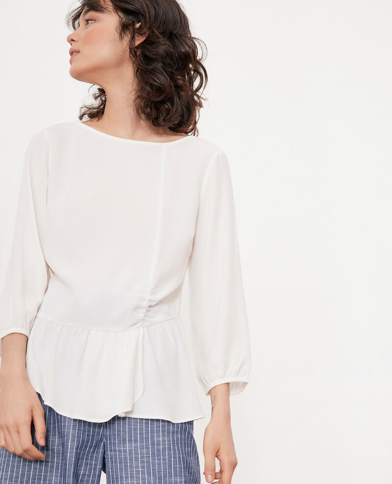 Frilly blouse OFF WHITE
