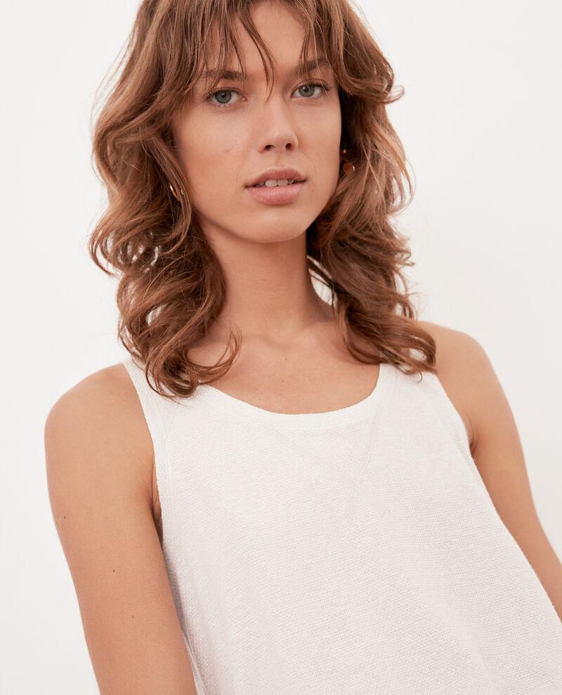 Shimmering linen blend vest Chalk Fofie