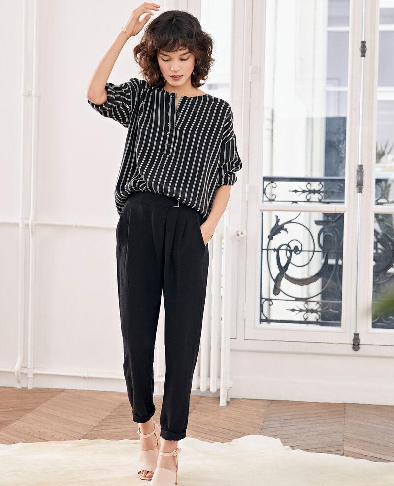 Striped blouse BLACK/OFF WHITE STRIPES