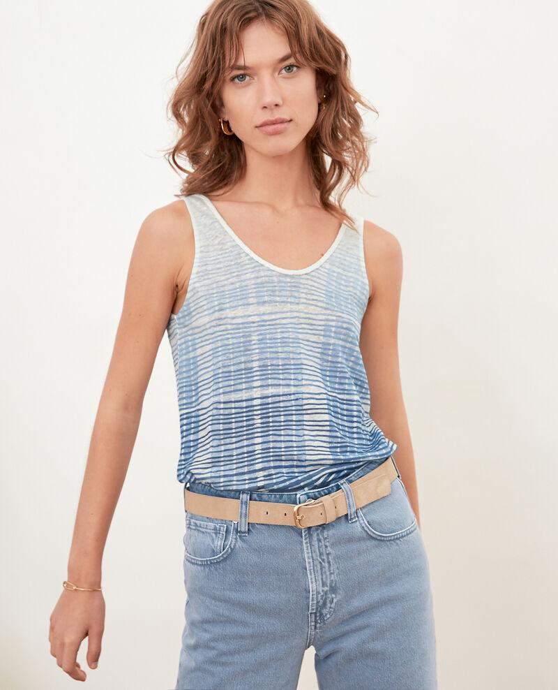 Linen vest top Tie&dye washed blue Fagoton