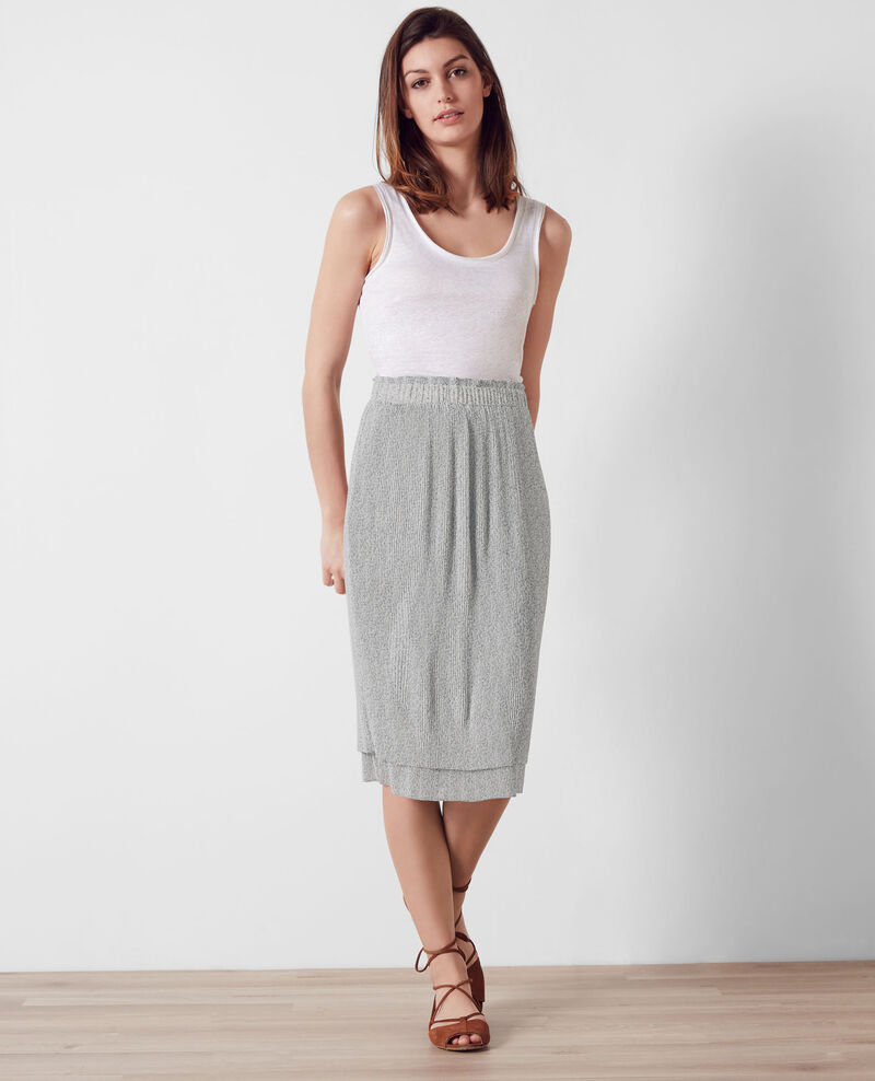 Pleated skirt Summer lines ink blue Ciakey