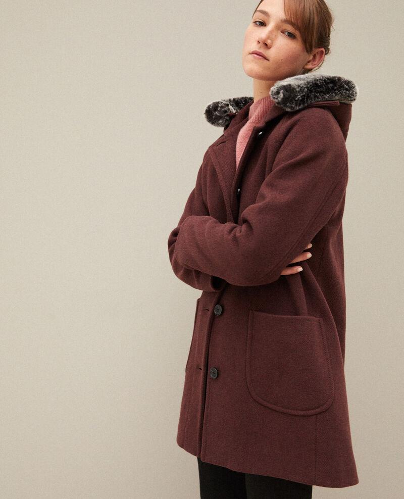 Hooded coat DECADENTE CHOCOLATE