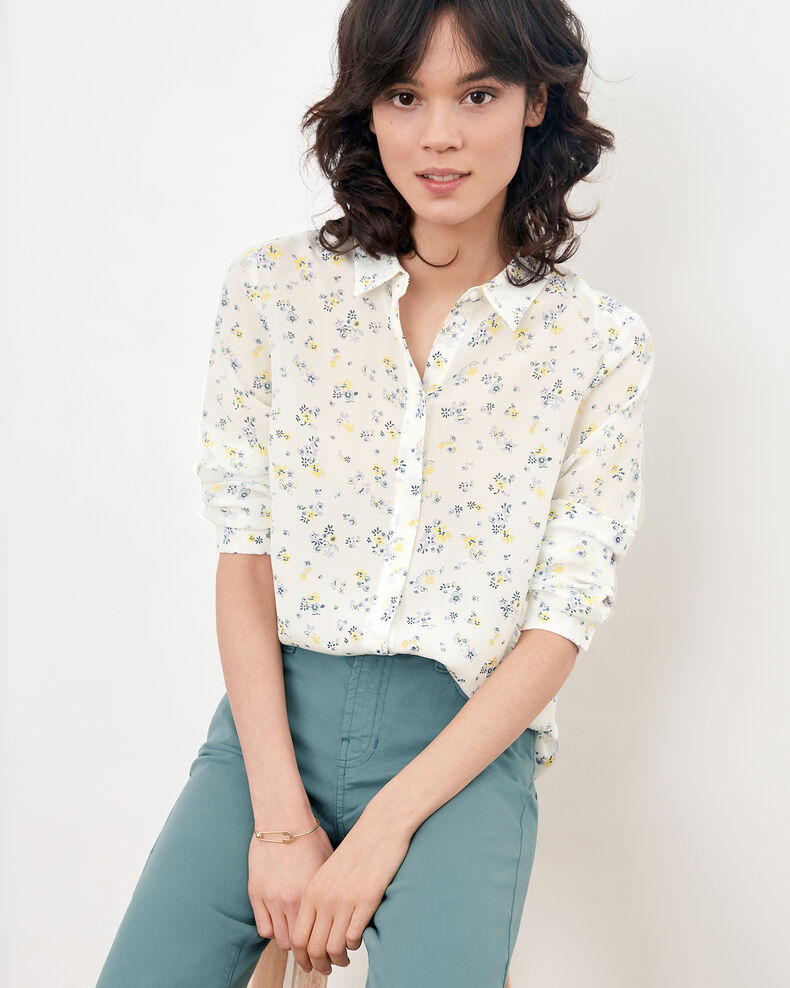 Printed silk shirt Lillybell kaolin Follower