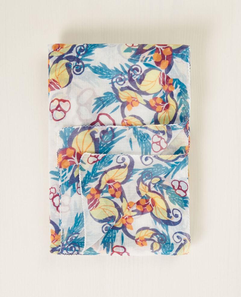 Printed scarf Tropique Cacha