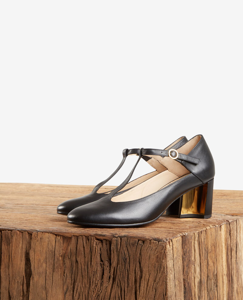 Leather Salome shoe NOIR