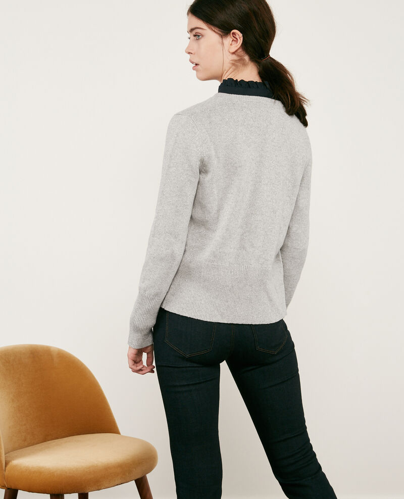 Wool blend shimmering cardigan Light grey Donovan