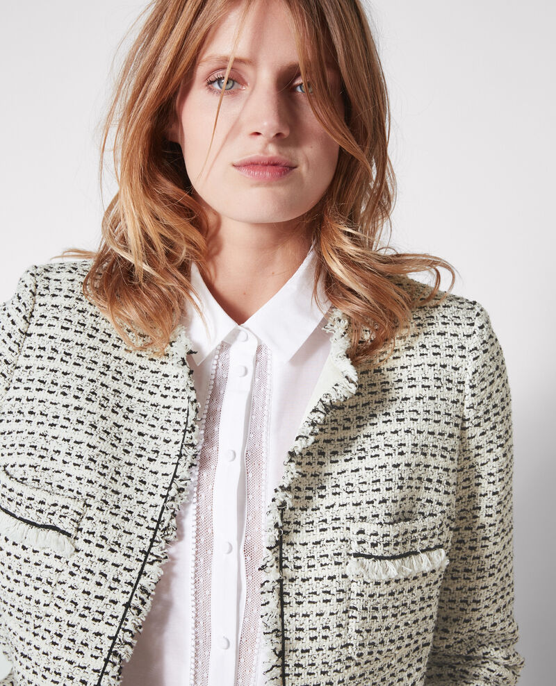 Open tweed jacket Black/white Ciao