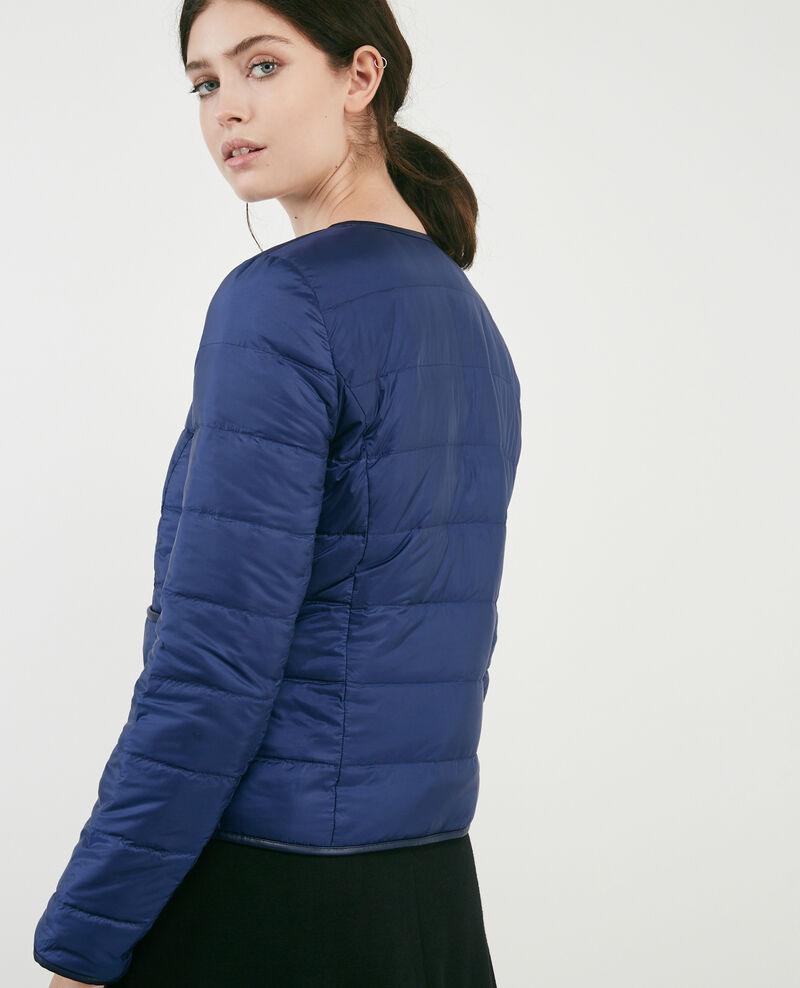 Pocketable reversible puffer jacket Indigo/light grey Calao