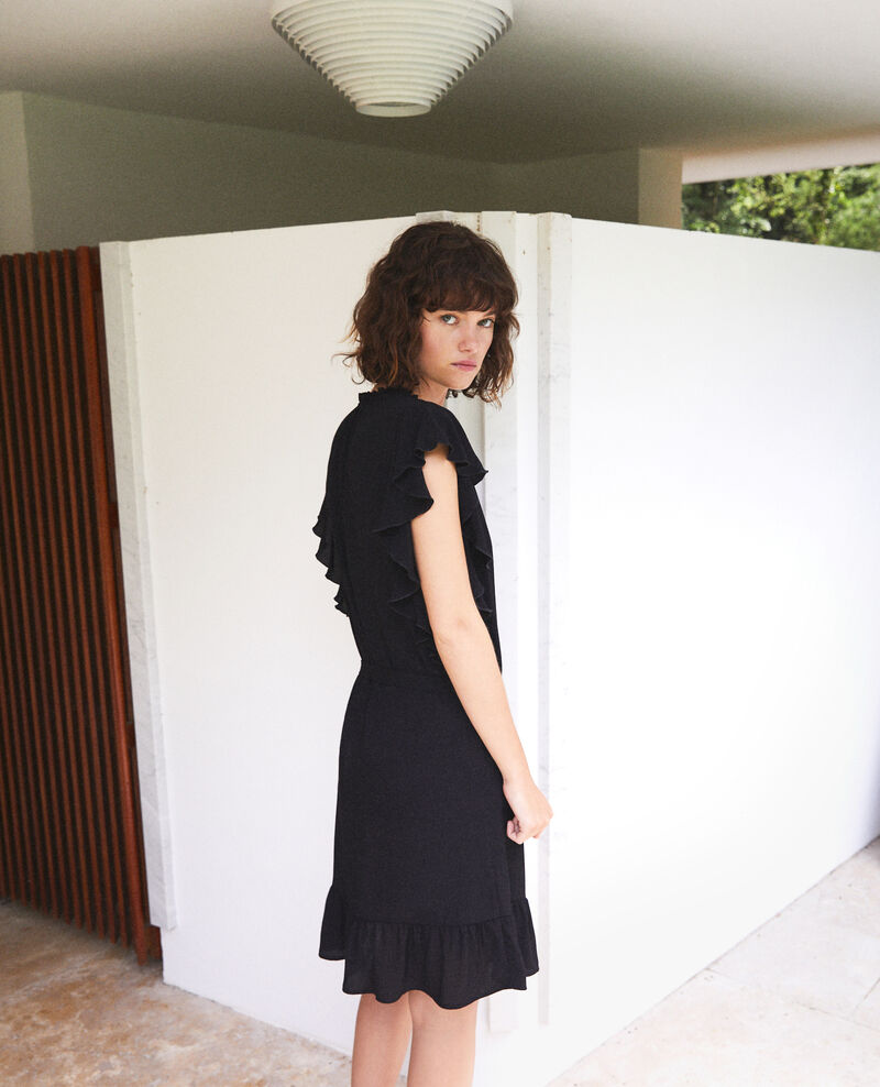 Frilly dress Noir Fretiller