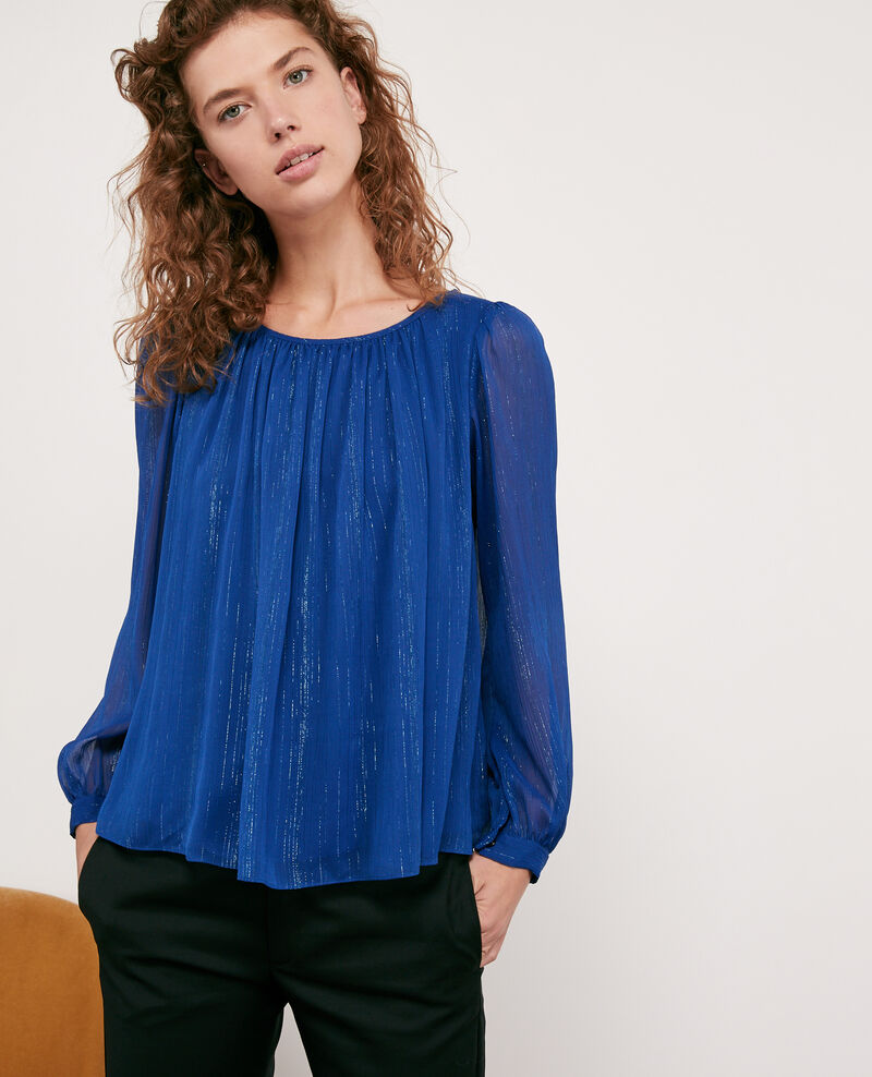 Blouse with lurex details Sapphire Dancing