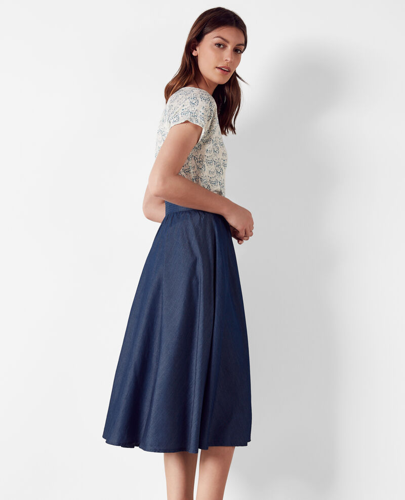 Denim midi skirt Denim Critney