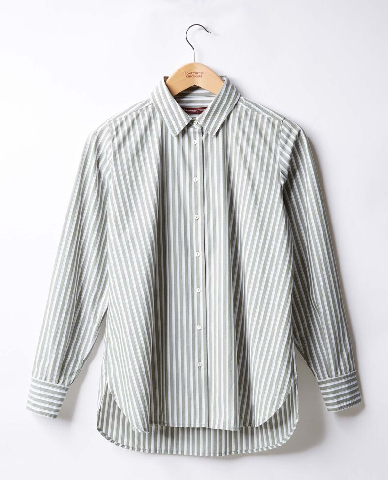 Striped oversize shirt Sage stripes Fregate