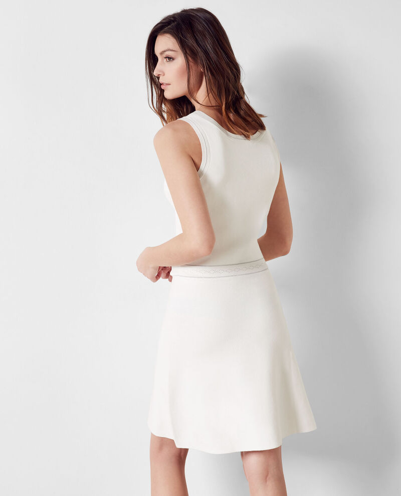 Fine-knit dress with sparkly details Off white Chandelle
