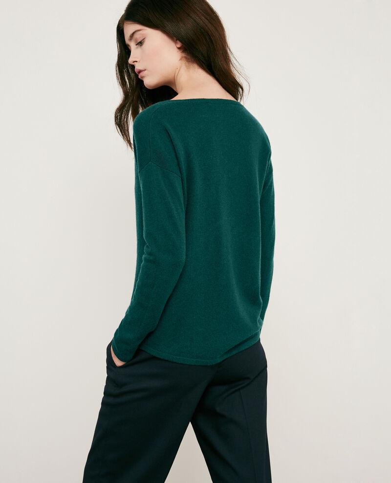 100% cashmere jumper Deep green Dudoux