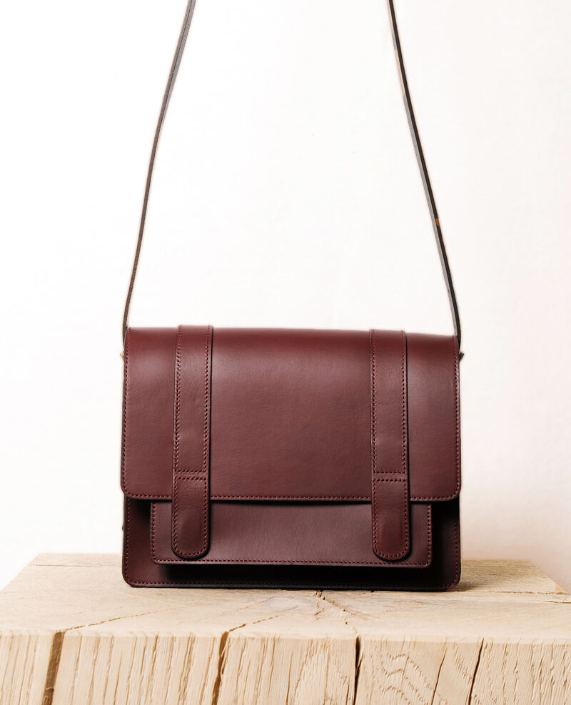 Smooth leather bag, small model DECADENTE CHOCOLATE